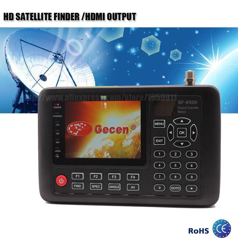 HD Digital Satellite Finder For Satellite TV Receiver With 3.5''TFT LCD Satellite Meter Real time constellation display skybox f4 1080p hd digital satellite receiver black