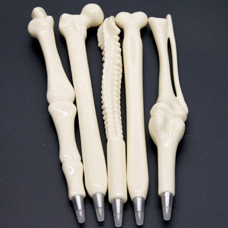 5 pcs / lot Syringe Pen Writing Supplies Bone shape ballpoint pens...