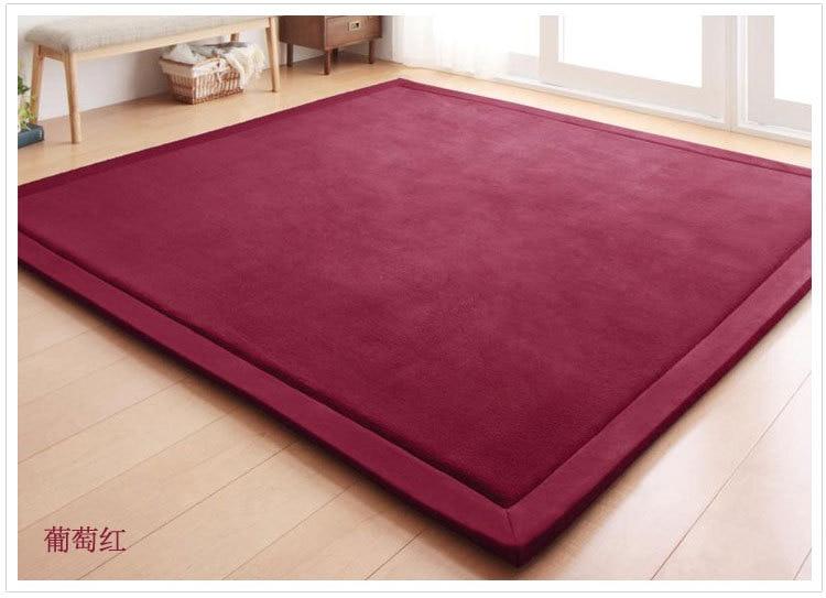 Nouveau 2 CM épais tapis de jeu corail polaire couverture tapis enfants bébé ramper tatami tapis coussin matelas pour chambre - 4