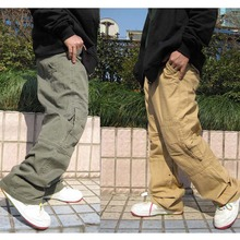 Hip Hop Dance Mens Trousers Pants Casual Joggers Loose Cargo Cotton Male Clothing Plus Size
