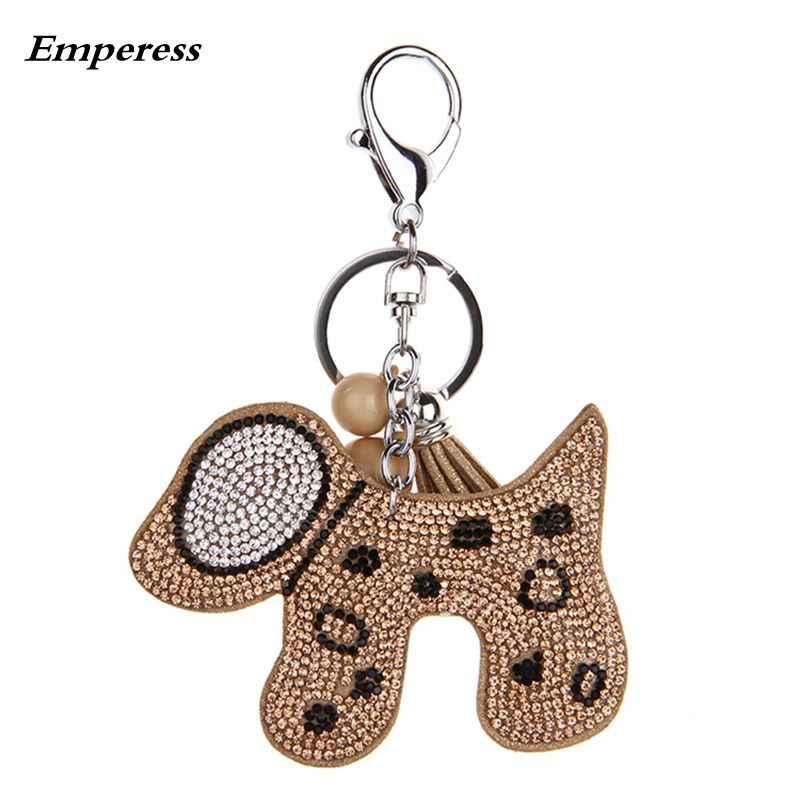 YD & YDBZ 2019 милая собака брелок для ключей для женщин Мода Kwaii ювелирные изделия автомобильный брелок коричневый розовый серебряный красный 4 цвета Подвески для дамской сумочки