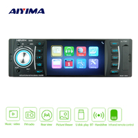 AIYIMA 4.1 1 Din Digital Display Bluetooth Universal MP5 Player USB SD AUX FM Radio MP3 MP4 Audio Music Video Player For Auto