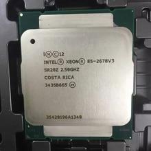 Intel E5 2678 V3 2.5GHz 30MB 12Core 120W 22nm ซ็อกเก็ต LGA 2011 3 SR20Z โปรเซสเซอร์ CPU