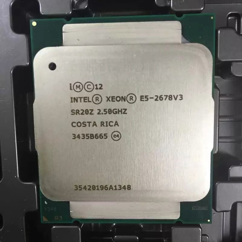 Процессор Intel E5 2678 V3, 2,5 ГГц, 30 Мб, 12 ядер, 120 Вт, 22 нм, разъем LGA 2011-3 SR20Z, процессор