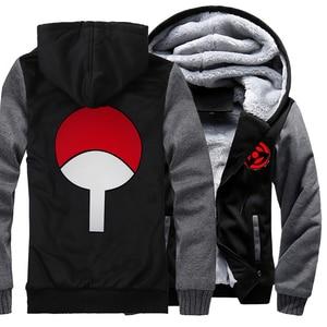 Image 2 - Sudaderas con capucha de Naruto Uchiha Syaringan para hombre, chaquetas con capucha con estampado de dibujos animados de ninja, abrigos gruesos, M 5XL, novedad de 2019