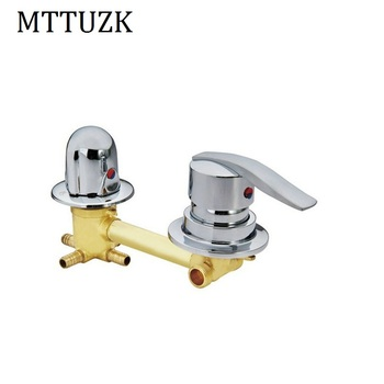 In wall mounted 2/3/4/5 Ways outlet  brass shower faucets screw or intubation Copper shower cabin shower room mixing valve tap