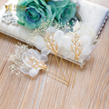 3pcs Top Quality hair stick Floral hairpins charming hair ornaments forehead  photography bridal wedding accessories Giftszuixin