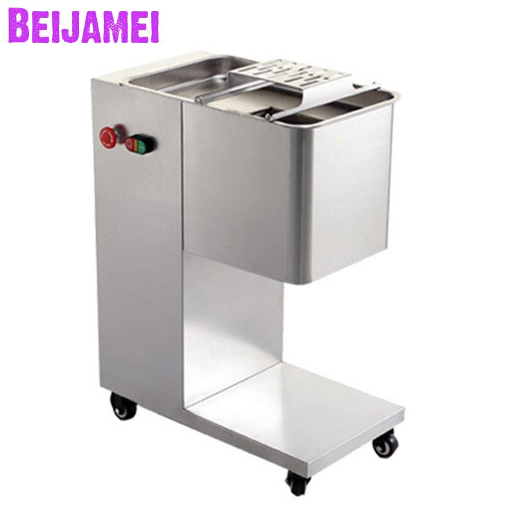 BEIJAMEI Table Type 2-10mm Commercial Meat Slicer/electric Fresh Meat Cutting Machine For Sale