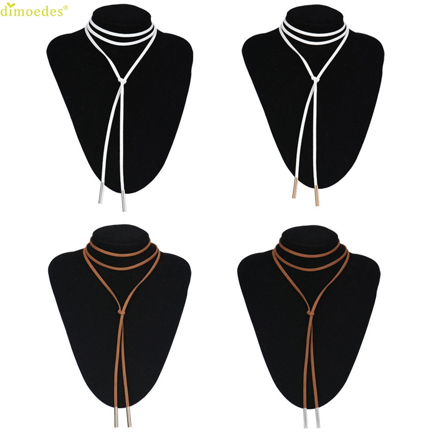 Friday's delusions Store HOT Brand New Arrival Fashion Charm Bohemia Sexy Black Leather Choker Necklace Jewelry
