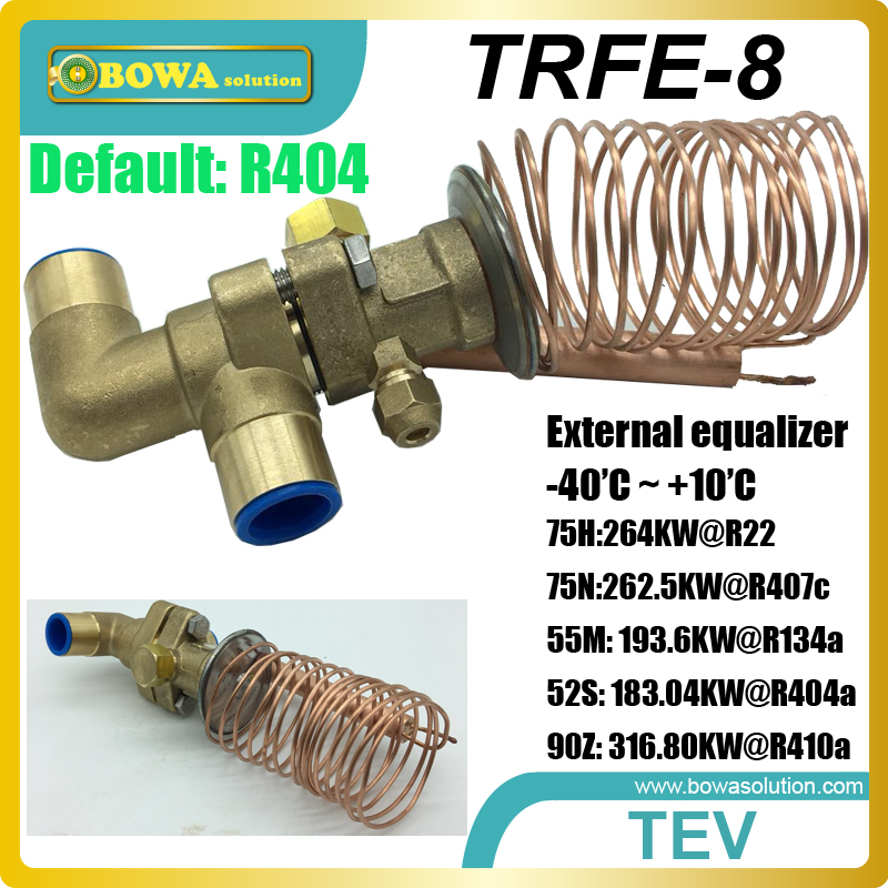 75RT cooling capacity thermostatic expansion valves suitable for kinds of larger water chiller or air conditioner systems large cooling capacity indepedent electronic expansion valves eev unit suitable for tandem compressor unit or compressor rack