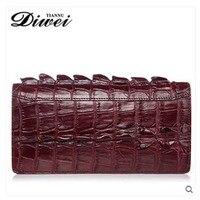 Diwei крокодил человек кошелек кожаный большой емкости мешок руки долго бумажник подлинные сумки деловых людей и туристов