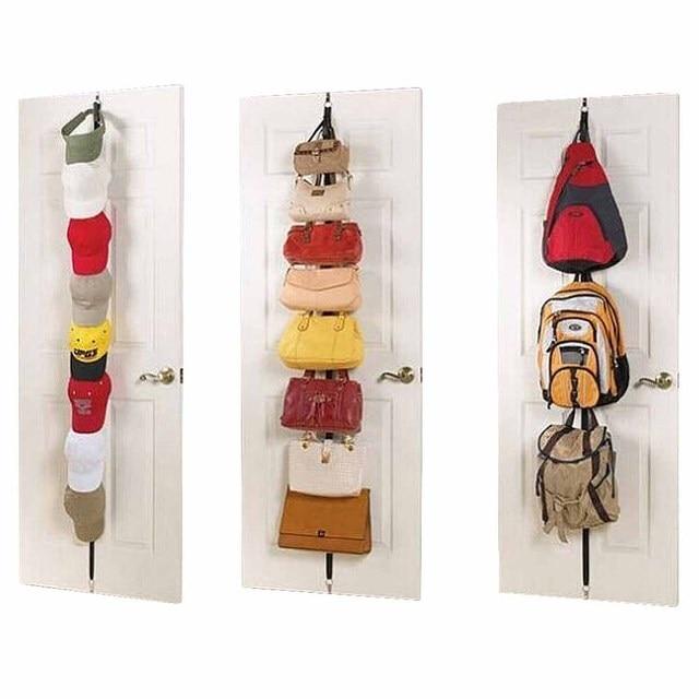 Beau 2 Pcs/lot Over Door Straps Hanger Hooks Adjustable Hat Bag Organizer  Handbags/Purses