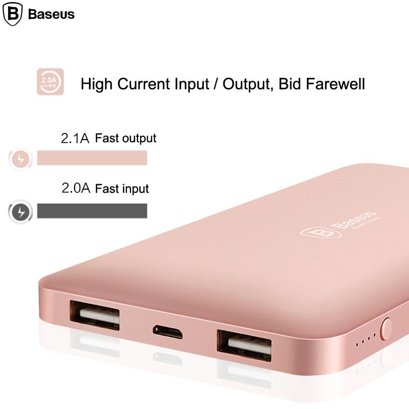 Banco do Poder potência dual usb externo portátil Baseus Modelo : Baseue