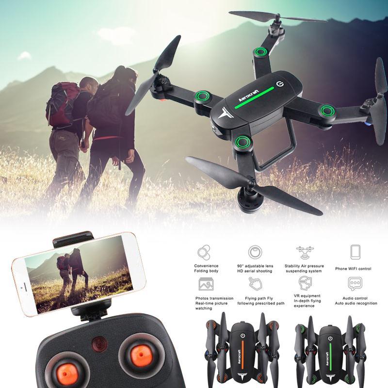 Drone With Camera RC Airplane F16 Foldable WIFI 4CH Camera Altitude Hold Hover Remote Control Quadcopter Selfie Drone syma x56w remote control drone helicopter 2 4g 4ch 6 axis aircraft quadcopter foldable hover rc dron with wifi camera