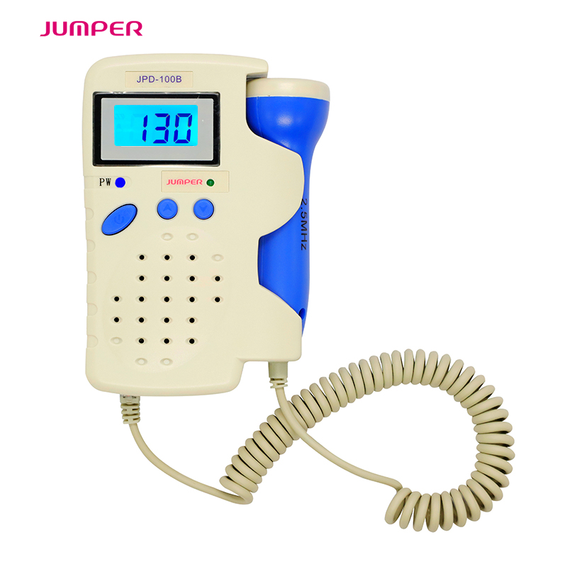 Jumper Handheld Pocket Digital Fetal Doppler JPD-100B 2.5MHz Home Use Baby Heart Rate Detector Monitor with Rechargeable battery doppler foetal 100b fetal heart rate detection device easy to use for home fhr portable ultrasonic diagnostic baby lcd screen