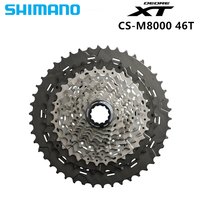 Shimano CS M8000 XT 11S Speeds 11 42T 11 46T MTB Bicycle Bike Cassette Freewheel