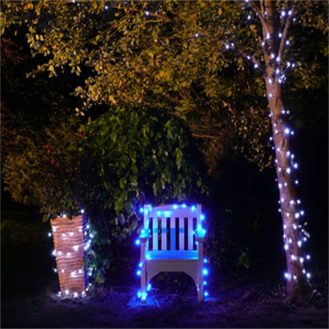 2017 new Blue 17M 100 LED Solar Fairy Lights Party Garden Wedding String Lights Outdoor  sc 1 st  AliExpress.com : outdoor lighting party - www.canuckmediamonitor.org