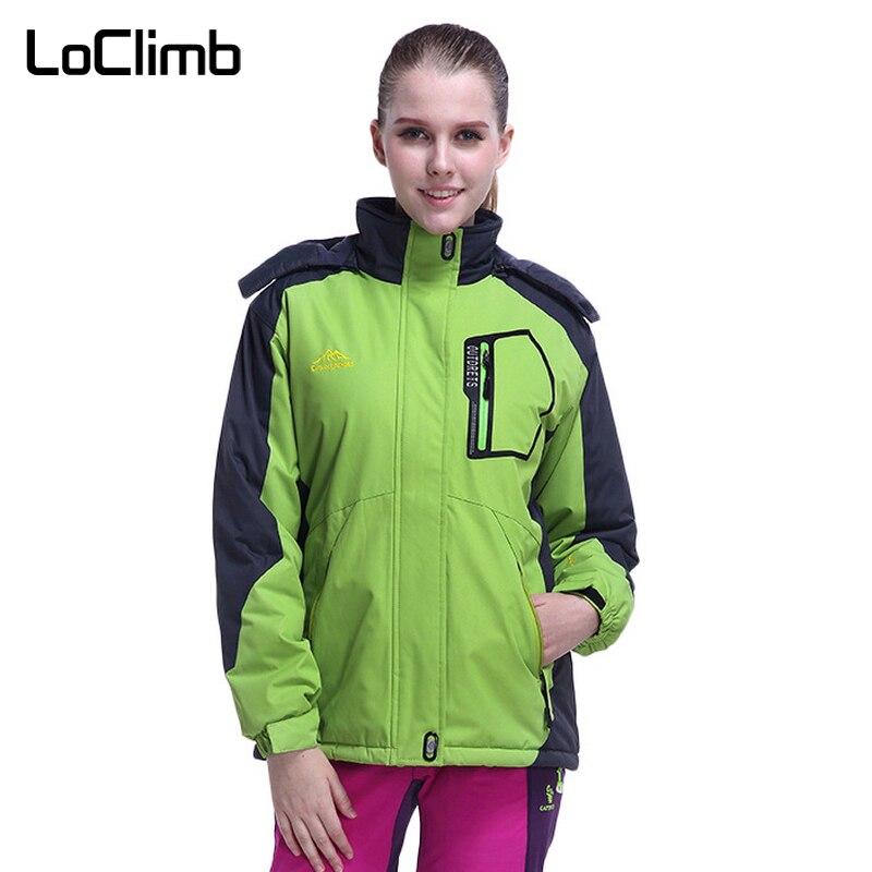 Marque LoClimb doublure polaire épaisse vestes de randonnée en plein air femmes imperméable Camping Trekking Sport manteau coupe-vent pour femmes, AW147
