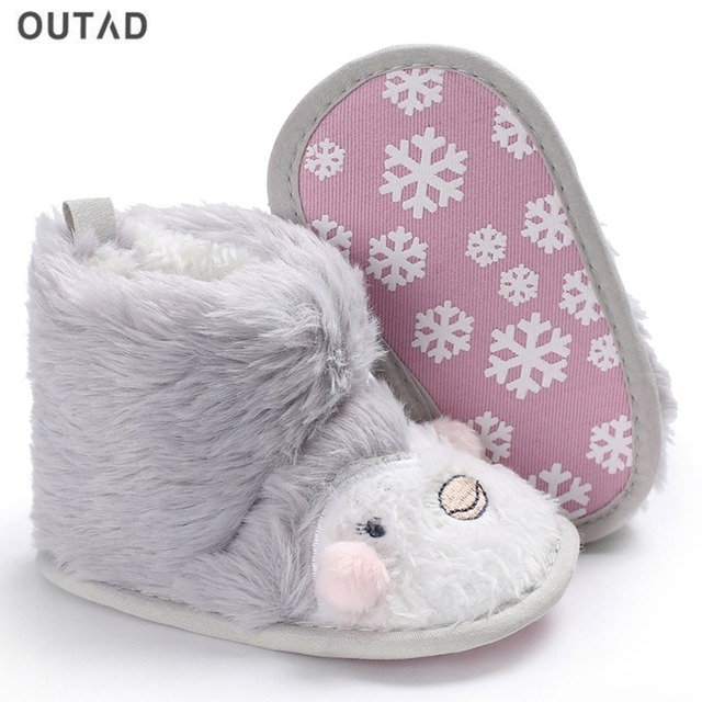 Cute Baby Shoes Snow Boots Cotton Warm Infant Soft Soled Winter Baby Boots  For Girls Anti f05a45d43875