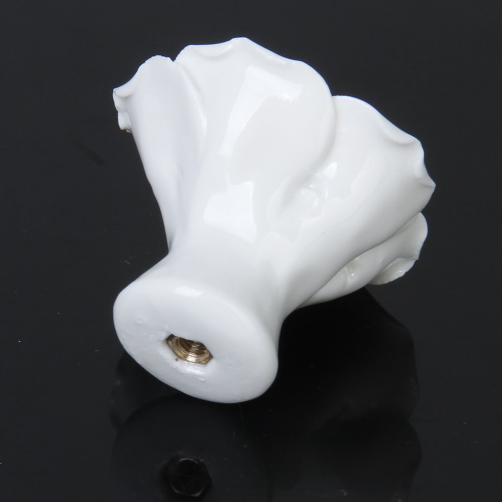 HOT SALE 1 x Rose Flower Ceramic Kitchen Furniture Cabinet Cupboard Handle Pull Knob---White зарядное устройство и аккумулятор gp powerbank pb420gs130 1300mah aa 4шт