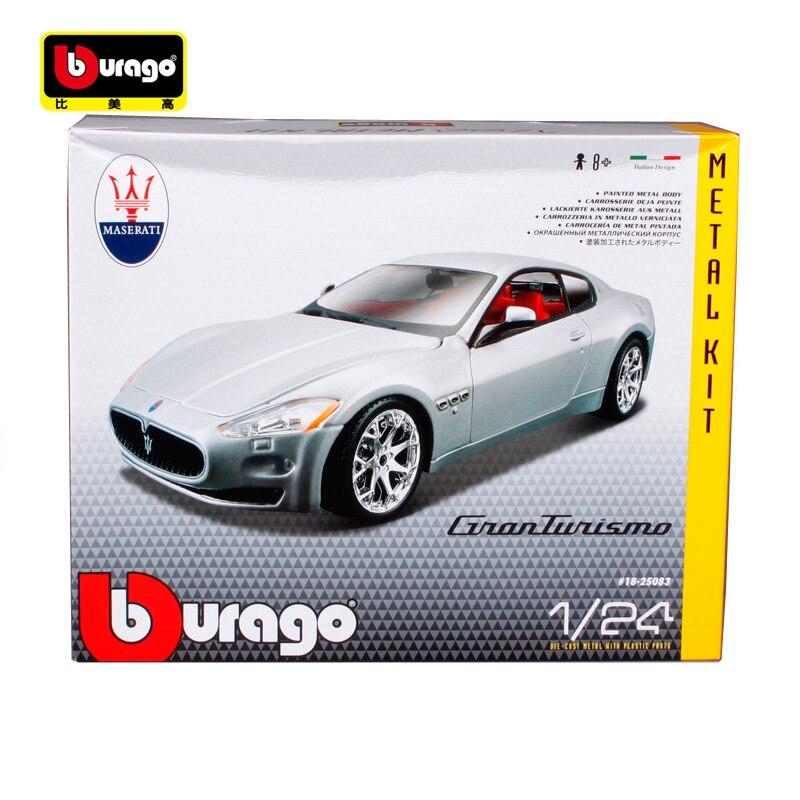 Bburago 1:24 Maserati GT Gran Turismo Assemblée DIY Racing Diecast Modèle Kit Kits Voiture Jouet Neuf Dans la Boîte Livraison Gratuite 25083