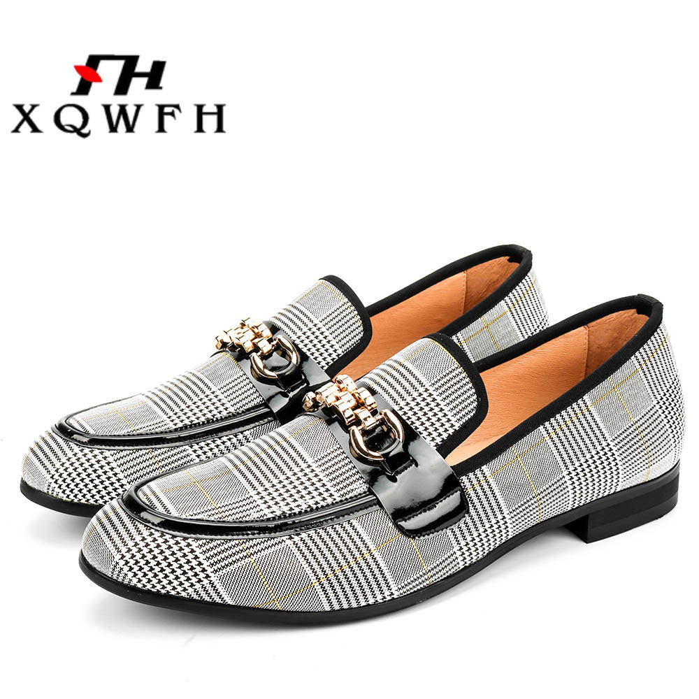 XQWFH Hommes Chaussures Mode hommes Casual Chaussures À La Main Mocassins Confortable Respirant Hommes Robe Chaussures