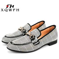 XQWFH Men Shoes Fashion Men's Casual Shoes Handmade Loafers Comfortable Breathable Men Dress Shoes