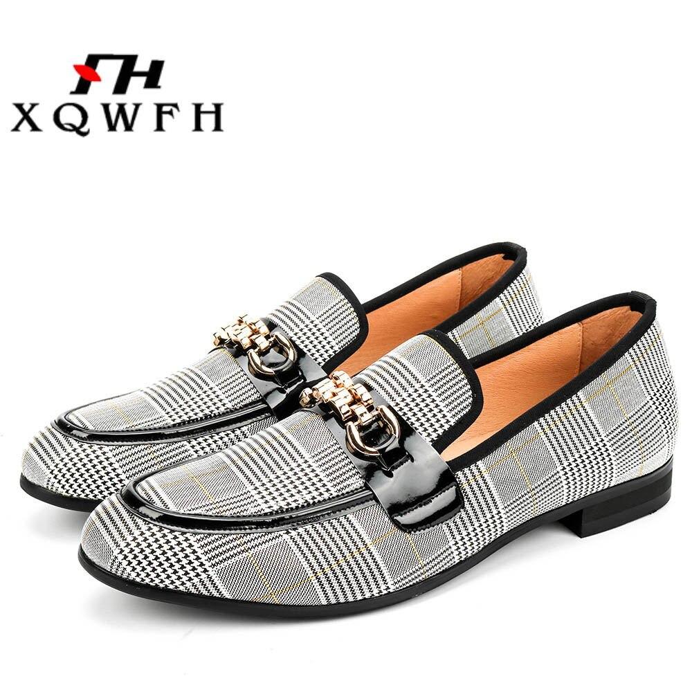 XQWFH hommes chaussures de mode hommes chaussures décontractées mocassins à la main confortable respirant hommes chaussures habillées