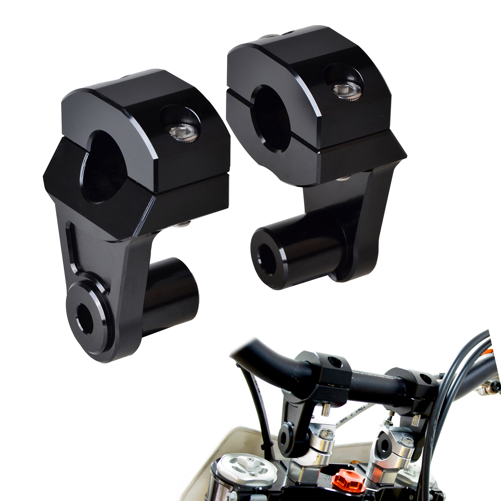 Motorcycle 28mm 1-1/8 Pivoting Handlebar Riser Handle Bar Clamps For KTM 690 990 Adventure Triumph Tiger 800 1200 XT1200Z худи print bar adventure fiction