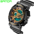 Male Fashion Sport Military Wristwatches 2017 New Watches Men Luxury Brand 3ATM Dive LED Digital Analog Quartz Watches