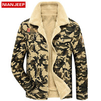 NIANJEEP Winter Camouflage Jackets Men HIgh Quality Thick Fleece Military Jacket Outdoor Warm Men Coat Jaqueta