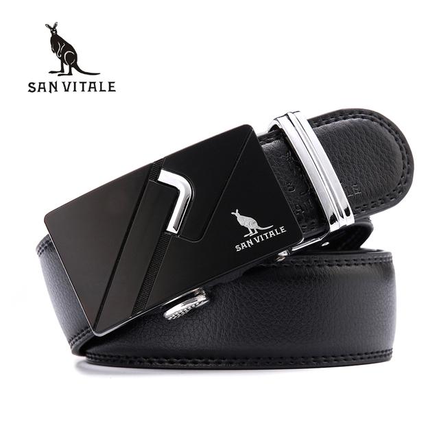 SAN VITALE Novos Cintos de Grife Homens de Alta Qualidade Dividir Genuíno Cinto de couro para o Sexo Masculino Marca De Luxo Homem Militar Cintura Das Calças de Brim cinta