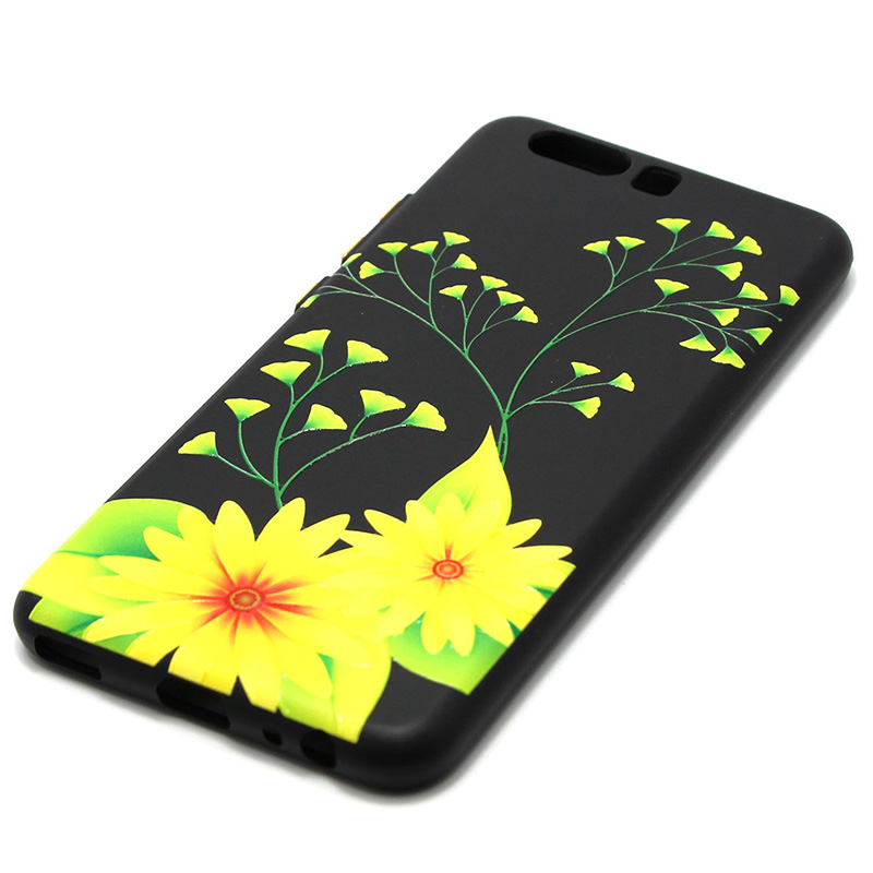 3D Relief flower silicone  case huawei p10 (19)