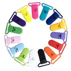 Разноцветный 10 шт./лот 20 мм Пластик клипсы для соски прозрачная соска пустышка с зажимом держателя для детская пустышка на цепочке с прищепк...