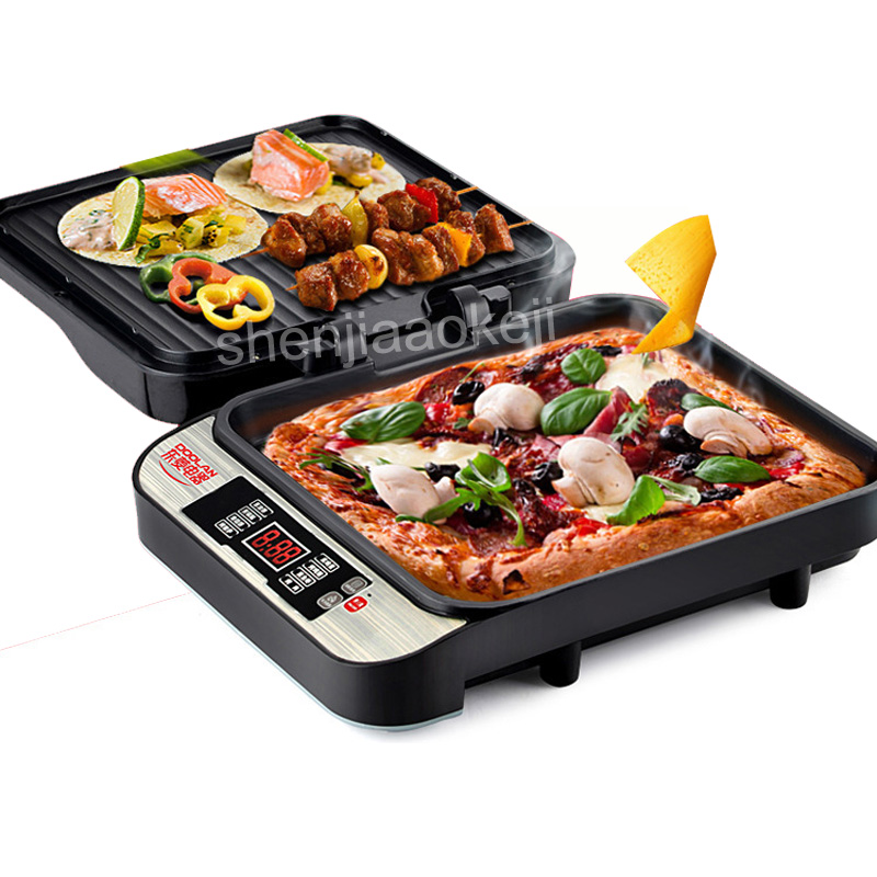 1PC Automatic Electric Baking Pan DLD-009 Double-sided Household timing multi-function suspension non-stick frying machine 220V non stick coating multi function frying pan for 220v to 240v at home