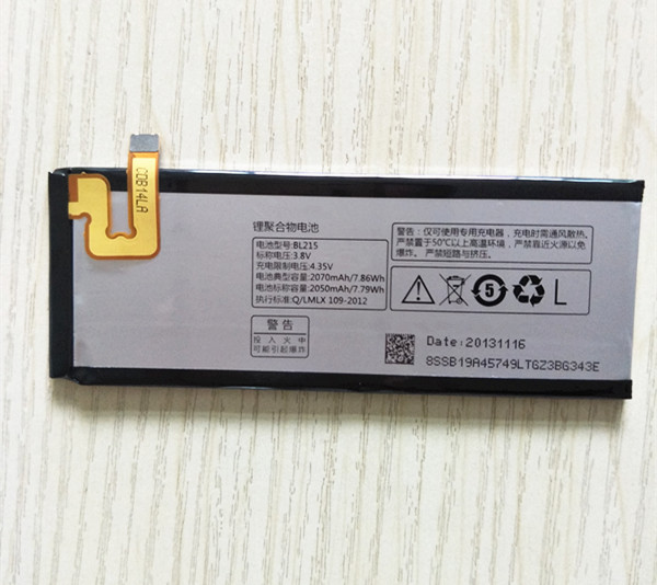 AZK BL215 replacement <font><b>battery</b></font> for <font><b>Lenovo</b></font> VIBE X <font><b>S960</b></font> S968T cell phone 2070mAh Excellent quality <font><b>battery</b></font> With Tracking number image