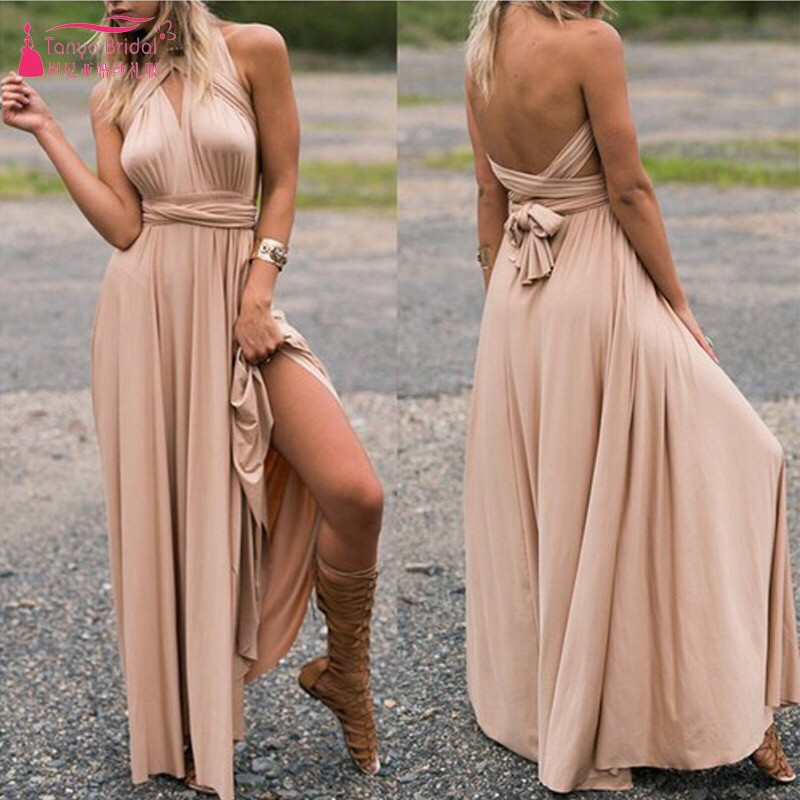 Variety   bridesmaid     dresses   bandage   dress   Simple Style Long Wedding Guest   Dress   With Strech DQG386