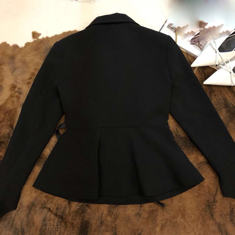 Nouveau Haute Veste Longues 2019 De Manteau Mode À Manches Bureau Pour Qualité Noir Femmes Dame wWwq7rOU