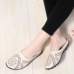 Image 3 - STQ 2020 קיץ נעלי כפכפים נשים עצלן בלט שטוח סנדלי נעליים להחליק על נוח מגזרות סנדלי שקופיות Flip  צונח 9915