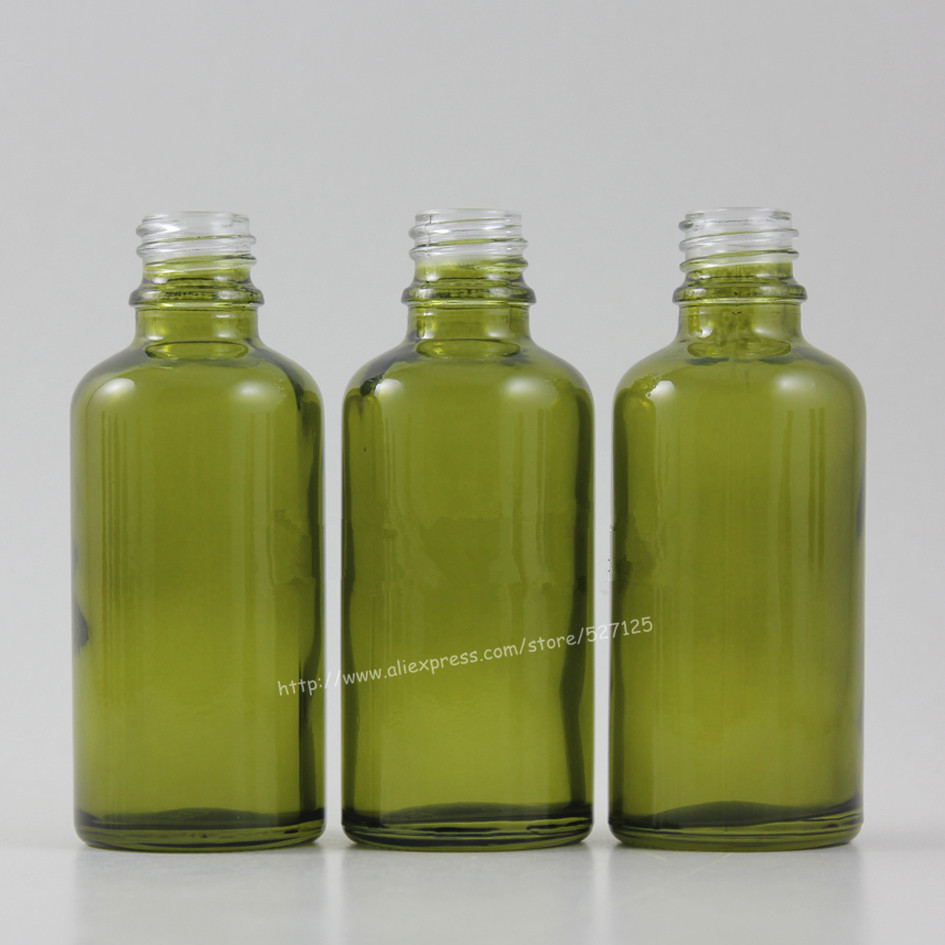 50ml olive green empty bottle without any caps,glass container.18410