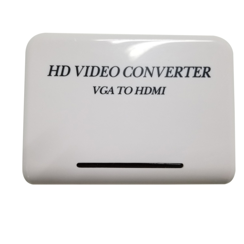 Audio VGA to HDMI HD HDTV 1080P Video Converter Box Adapter for Computer PC Notebook DVD and game console  conversion box