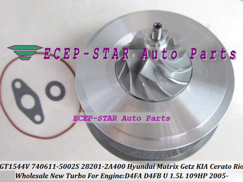 Free Ship Turbo Cartridge CHRA GT1544V 740611 740611-5003S 740611-5002S 782403 For HYUNDAI Matrix For KIA Cerato D4FA D4FB 1.5L