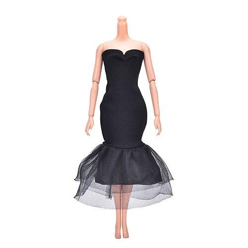 new style 07097 8449b US $0.71 16% di SCONTO|Bella Bambola Abiti Eleganti Della Signora Nero  Piccolo Vestito Da Sera Del Vestito Vestiti per la bambola Bambole Regalo  ...