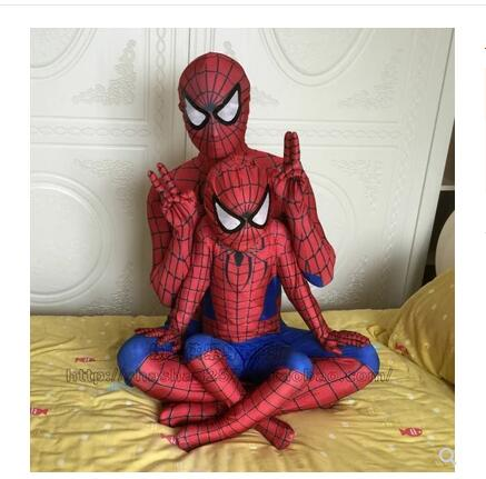 Spiderman Costume Suit Clothing Red Black Kids Children Adult Cosplay