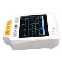 Heal Force Easy Handheld ECG Monitoring Machine Mini Portable Electrocardiogram LCD Heart Monitor Health Care Prince 180D + SPO2