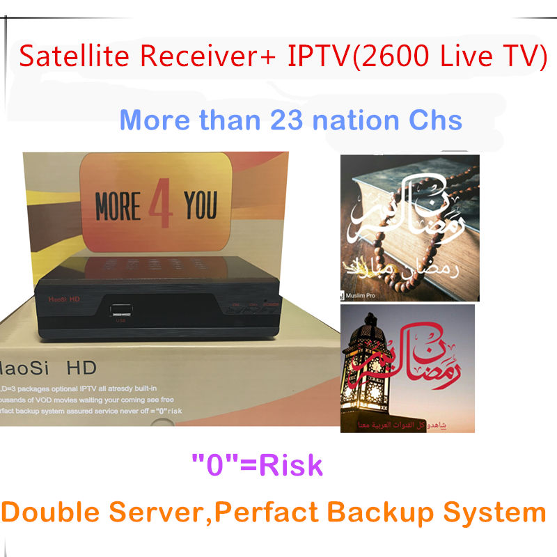 купить Free Shipping Arabic iptv receiver iptv france with two server free 2600 Arabic UK Sweden Netherland Germany somali chs по цене 6241.49 рублей