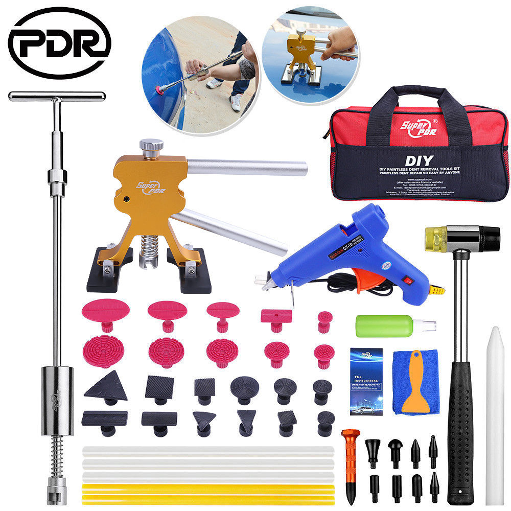 PDR Tools Set Dent Puller Paintless Dent Removal Auto Tools Repair Removing Dents Car Dent Repair Kit New Update Quality 500pcs stud welder draw pin set for removing dents car body sheet metal 2 0mm