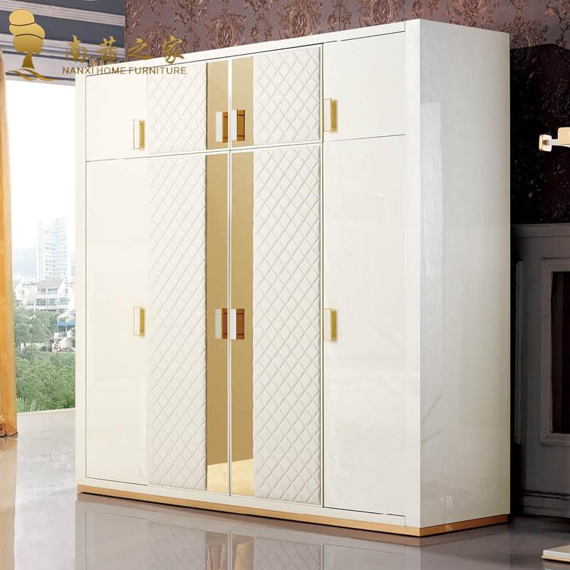 High Quality Italian Design Home Furniture Bedroom Wardrobe Four Door