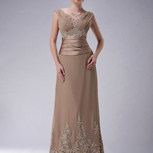 Dresses Mother-Of-The-Bride-Dresses Plus-Size Cap-Sleeves Groom Lace Chiffon Wedding