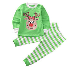 Pudcoco Baby Boys Girls XMAS Stripe Sleepwear Pajamas Set Long Sleeve T-shirt Tops + Pants Leggings Outfits Clothes 1-6Y